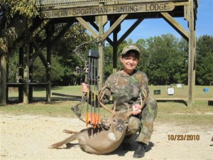 Cathy Caudle's best bowkill.  Nice 8 pt!